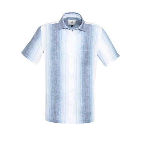 Buy John Lewis Hombre Stripe Short Sleeve Linen Shirt Online at johnlewis.com
