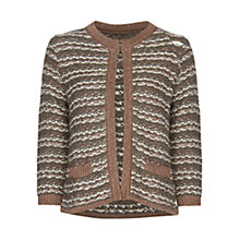 Buy Mango Stripe Cardigan, Mid Khaki Online at johnlewis.com