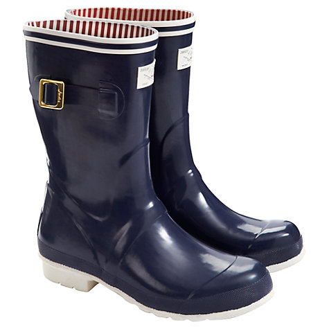 Buy Joules Seafarer Short Wellington Boots, Navy Online at johnlewis.com