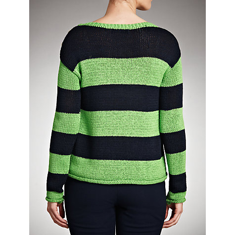 Buy Lauren by Ralph Lauren Stripe Button Shoulder Jumper Online at johnlewis.com