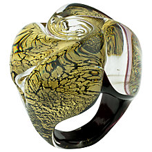 Buy Murano 1291 Gold Leaf Elements Murano Glass Rose Ring Online at johnlewis.com