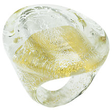 Buy Murano 1291 Gold Leaf Elements Murano Glass Maestro Ring Online at johnlewis.com