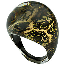 Buy Murano 1291 Gold Leaf Elements Murano Glass Shamare Ring Online at johnlewis.com