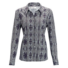 Buy allegra by Allegra Hicks Holly Shirt, Malachite Grey Online at johnlewis.com