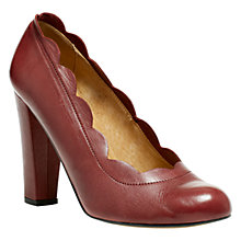 Buy NW3 by Hobbs Astra Scalloped Edge Block Heel Court Shoes Online at johnlewis.com