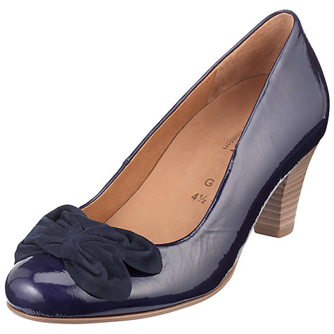 Buy Gabor Cheddington Suede Bow Wide Fit Court Shoes Online at johnlewis.com