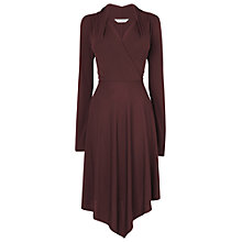 Buy L.K. Bennett Lory Handkerchief Dress, Aubergine Online at johnlewis.com