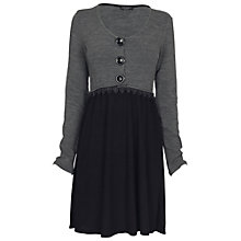 Buy James Lakeland Three Button Dress, Grey/Black Online at johnlewis.com