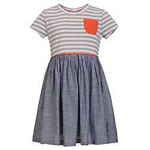 Buy Kin by John Lewis Girls' Contrast Dress, Chambray Online at johnlewis.com
