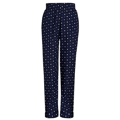 Buy Kin by John Lewis Girls' Printed Trousers, Navy Online at johnlewis.com