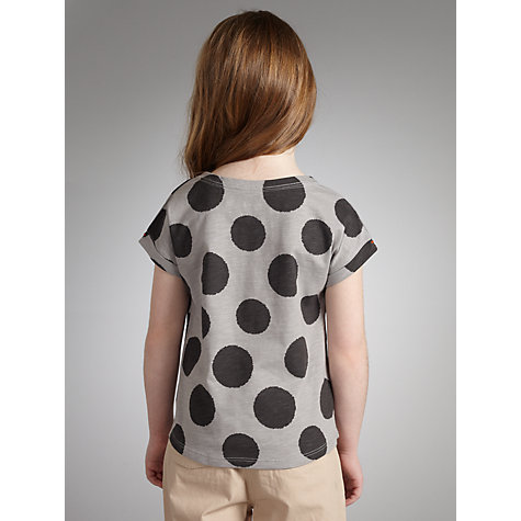 Buy Kin by John Lewis Girls' Spot Top, Grey/Stone Online at johnlewis.com