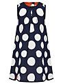 Kin by John Lewis Girls' Spotted Dress, Navy