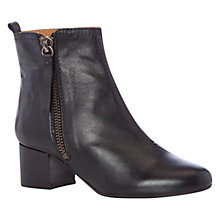 Buy NW3 by Hobbs Oscar Leather Side Zip Low Heel Ankle Boots Online at johnlewis.com