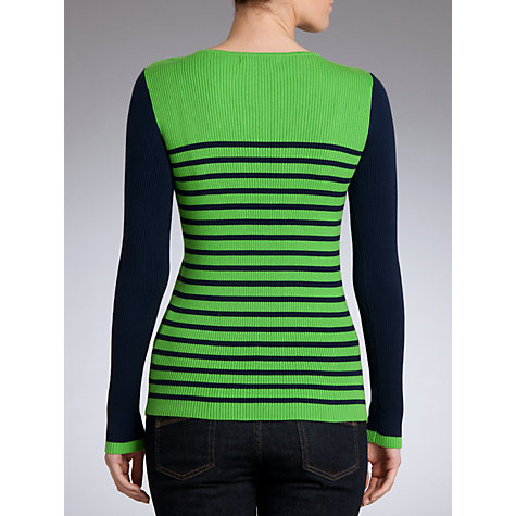 Buy Lauren by Ralph Lauren Block Sleeve Button Jumper Online at johnlewis.com