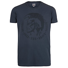 Buy Diesel T-Achl Mohawk T-Shirt, Navy Online at johnlewis.com