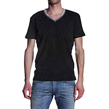 Buy Diesel V-Neck T-Shirt, Black Online at johnlewis.com