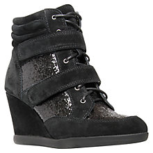Buy Carvela Sparkle Suede Ankle Boots, Black Online at johnlewis.com