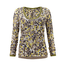 Buy Sandwich Flower Spot Print Top, Spring Green Online at johnlewis.com