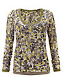 Sandwich Flower Spot Print Top, Spring Green