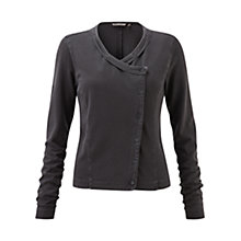 Buy Sandwich Dyed Collarless Jersey Jacket, Nearly Black Online at johnlewis.com