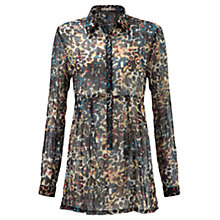 Buy Sandwich Splashed Dot Printed Tunic Top, Midnight Blue Online at johnlewis.com