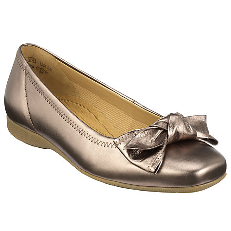 Buy Gabor Latoya Bow Front Wide Fit Ballerina Pumps Online at johnlewis.com