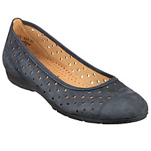 Buy Gabor Ruffle Nubuck Pumps, Navy Online at johnlewis.com
