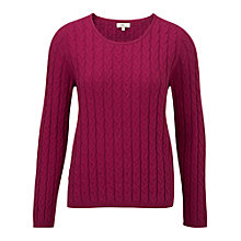 Buy CC Knitted Cable Jumper, Raspbery Online at johnlewis.com