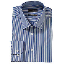 Buy John Lewis Non-Iron Striped Tailored Shirt, Blue Online at johnlewis.com