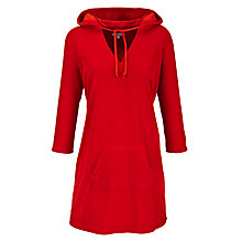 Buy John Lewis Terry Hooded Towelling Robe, Red Online at johnlewis.com