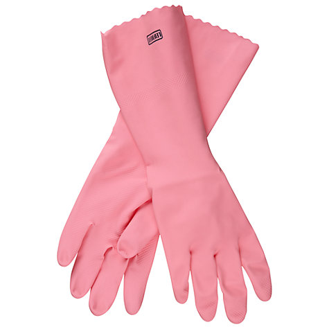 Buy Leifheit Washing-Up Gloves With Grip Control, Pink Online at johnlewis.com