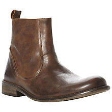 Buy Bertie Crowd Leather Slip-On Boots, Tan Online at johnlewis.com