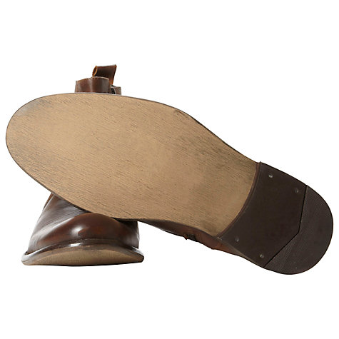 Buy Bertie Crowd Leather Slip On Boots, Tan Online at johnlewis.com