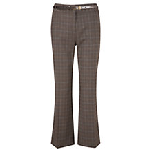 Buy CC Petite Belted Check Trousers, Multi Online at johnlewis.com