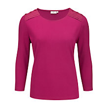 Buy CC Petite Pleat Shoulder Top, Raspberry Online at johnlewis.com