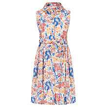 Buy John Lewis Girl Button Through Woven Print Dress Online at johnlewis.com