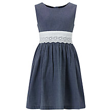 Buy John Lewis Girl Chambray Dress, Navy Online at johnlewis.com