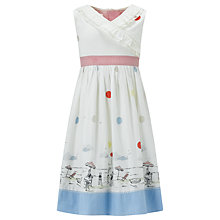 Buy John Lewis Girl Spotted Seaside Dress, Cream Online at johnlewis.com