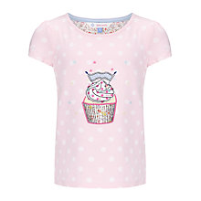 Buy John Lewis Girl Cupcake T-Shirt, Pink Online at johnlewis.com