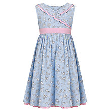 Buy John Lewis Girl Daisy Chain Wrap Dress, Blue Online at johnlewis.com