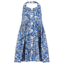 Buy John Lewis Girl Palm Trees Halterneck Dress, Blue Online at johnlewis.com