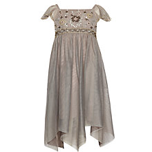 Buy John Lewis Girl Party Dress, Gold Online at johnlewis.com