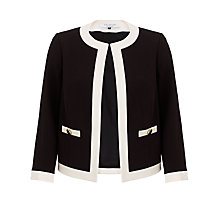 Buy COLLECTION by John Lewis Gabrielle Jacket, Black/Ivory Online at johnlewis.com