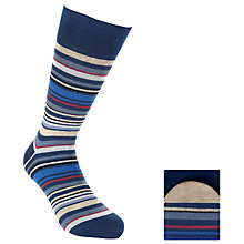 Buy John Lewis Egyptian Cotton Socks, Pack of 2, Blue Online at johnlewis.com