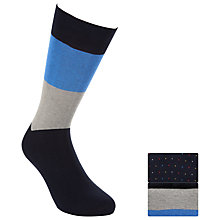 Buy John Lewis Egyptian Cotton Socks, Pack of 2, Navy Online at johnlewis.com