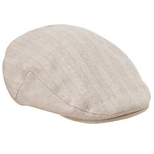 Buy John Lewis Self Stripe Flat Cap, Stone Online at johnlewis.com
