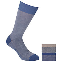Buy John Lewis Birdseye Cotton Socks, Pack Of 2, Denim Online at johnlewis.com