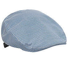Buy John Lewis Ticking Stripe Flat Cap, Blue Online at johnlewis.com