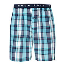Buy Hugo Boss Check Lounge Shorts, Blue Online at johnlewis.com