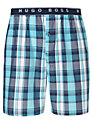 Buy Hugo Boss Check Lounge Shorts, Blue, XL Online at johnlewis.com